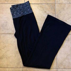 Black Lululemon Flare Yoga Pants